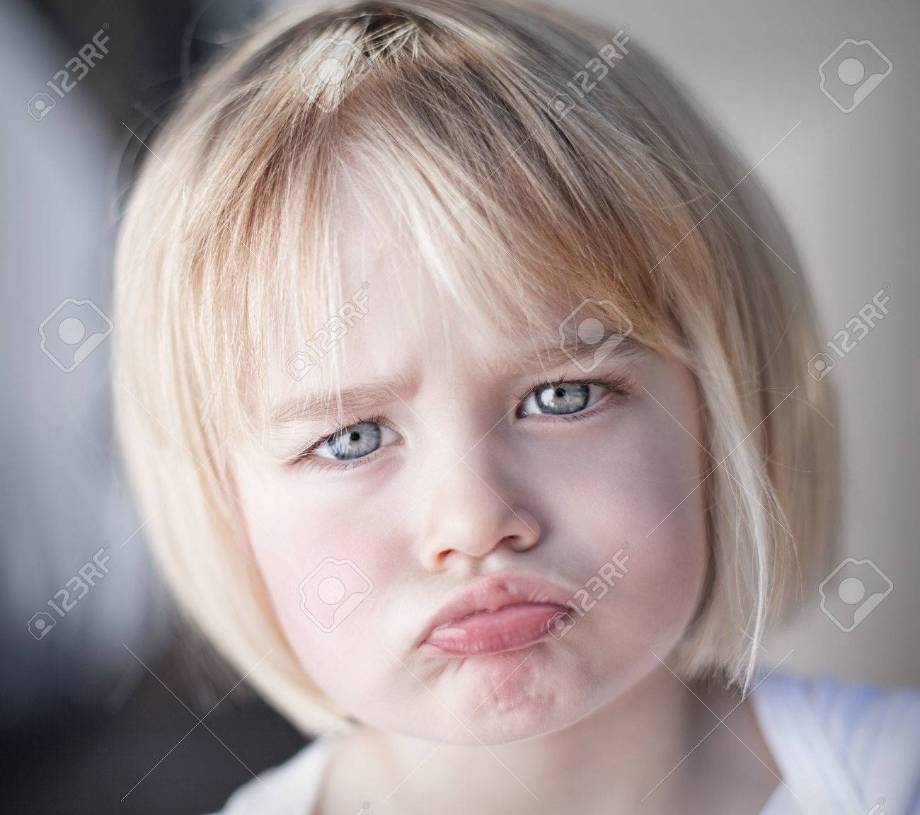 Portrait of lan upset toddler girl - 43179643