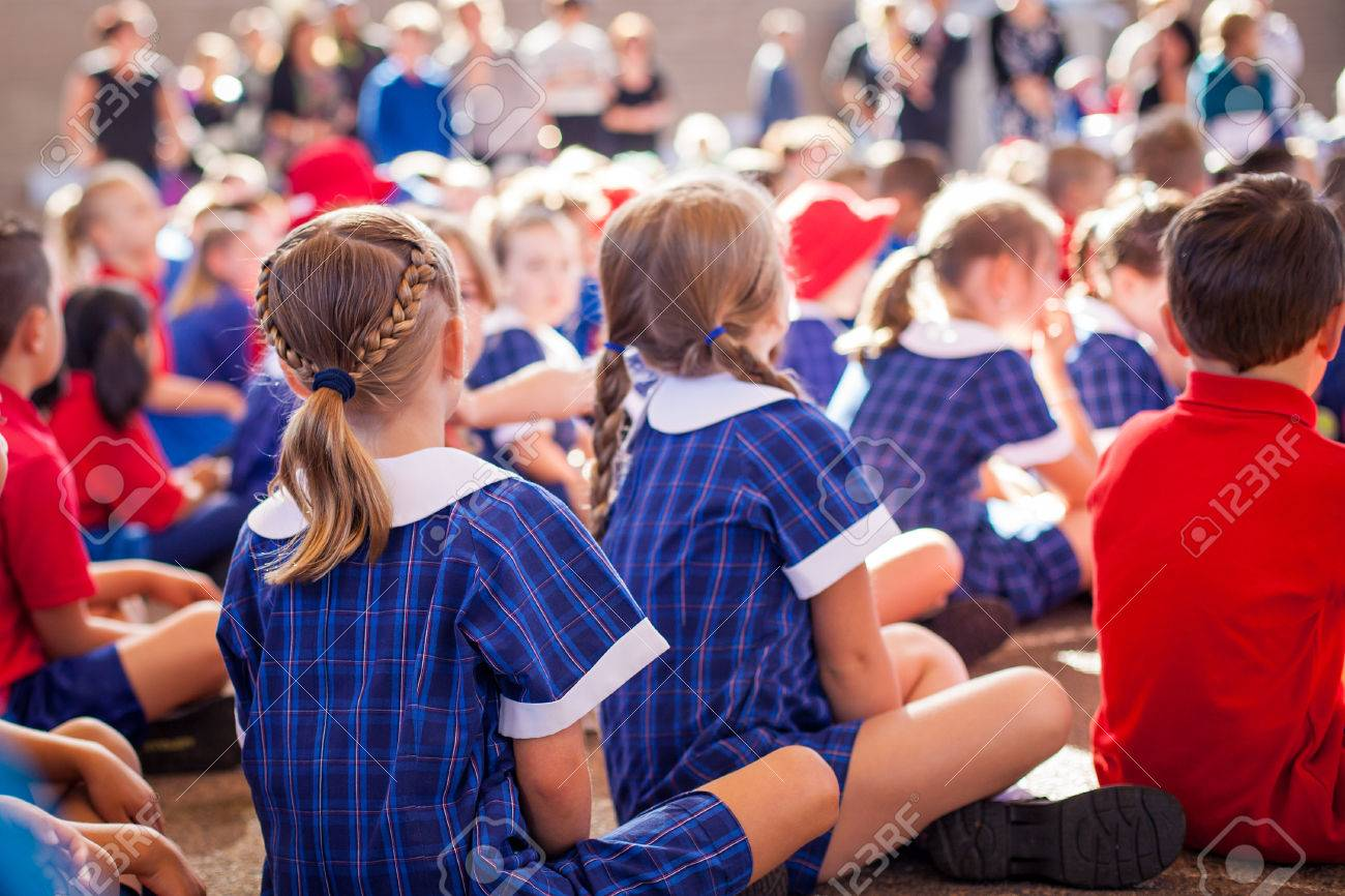 School kids in assembly Stock Photo - 60390949