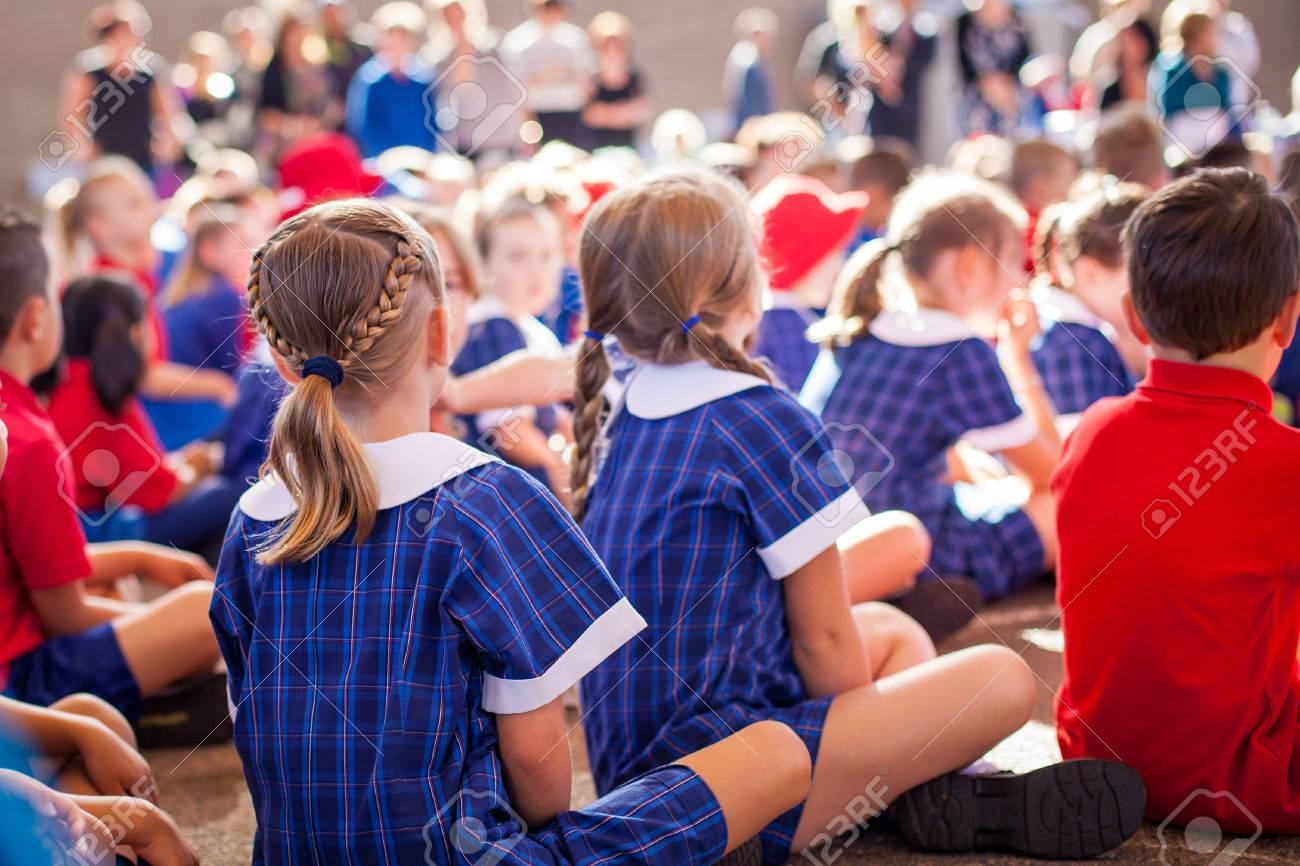 School kids in assembly - 60390949