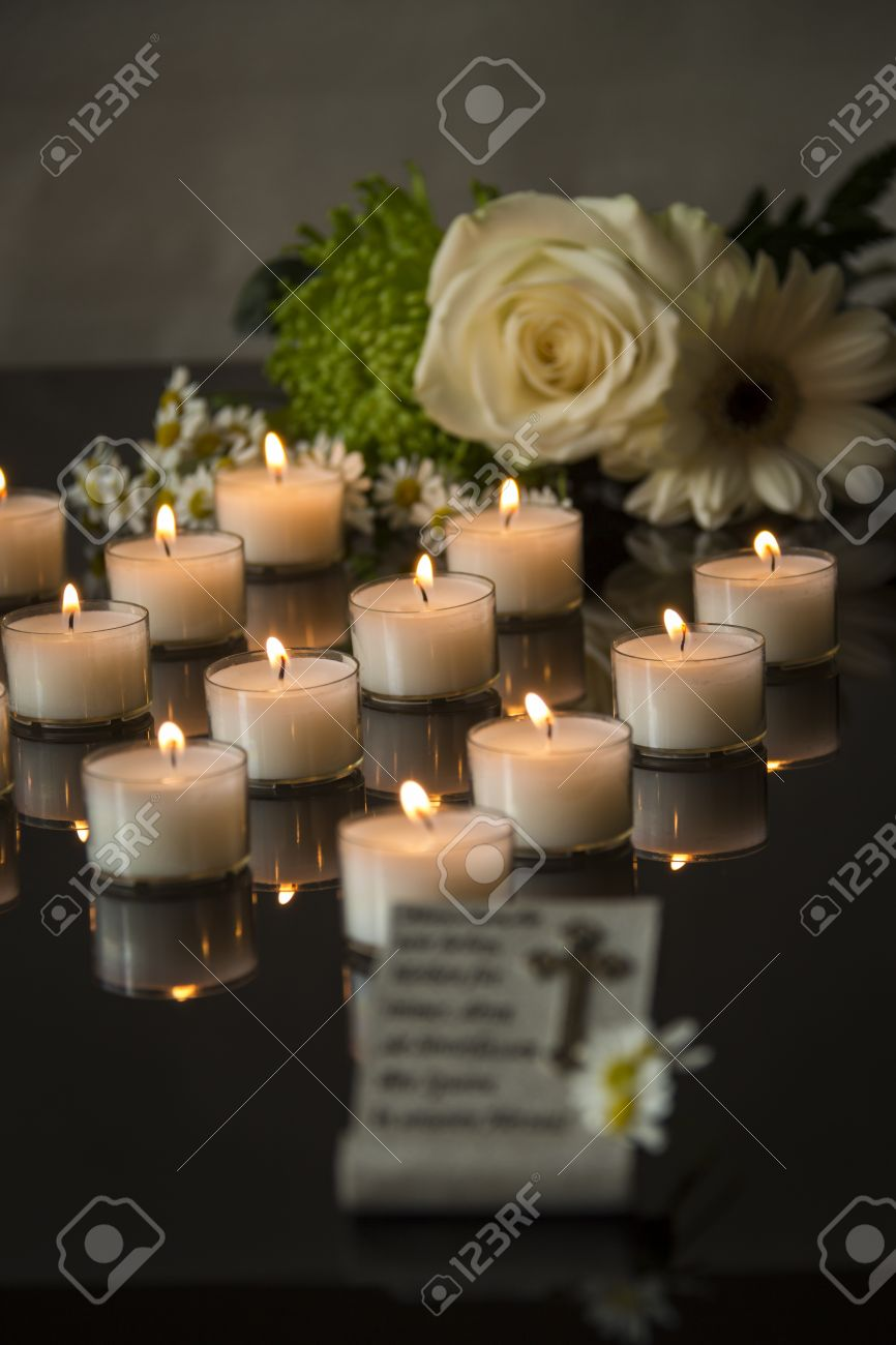 Funeral card and memorial candlelight on black background stock funeral card and memorial candlelight on black background stock photo 47805975 izmirmasajfo