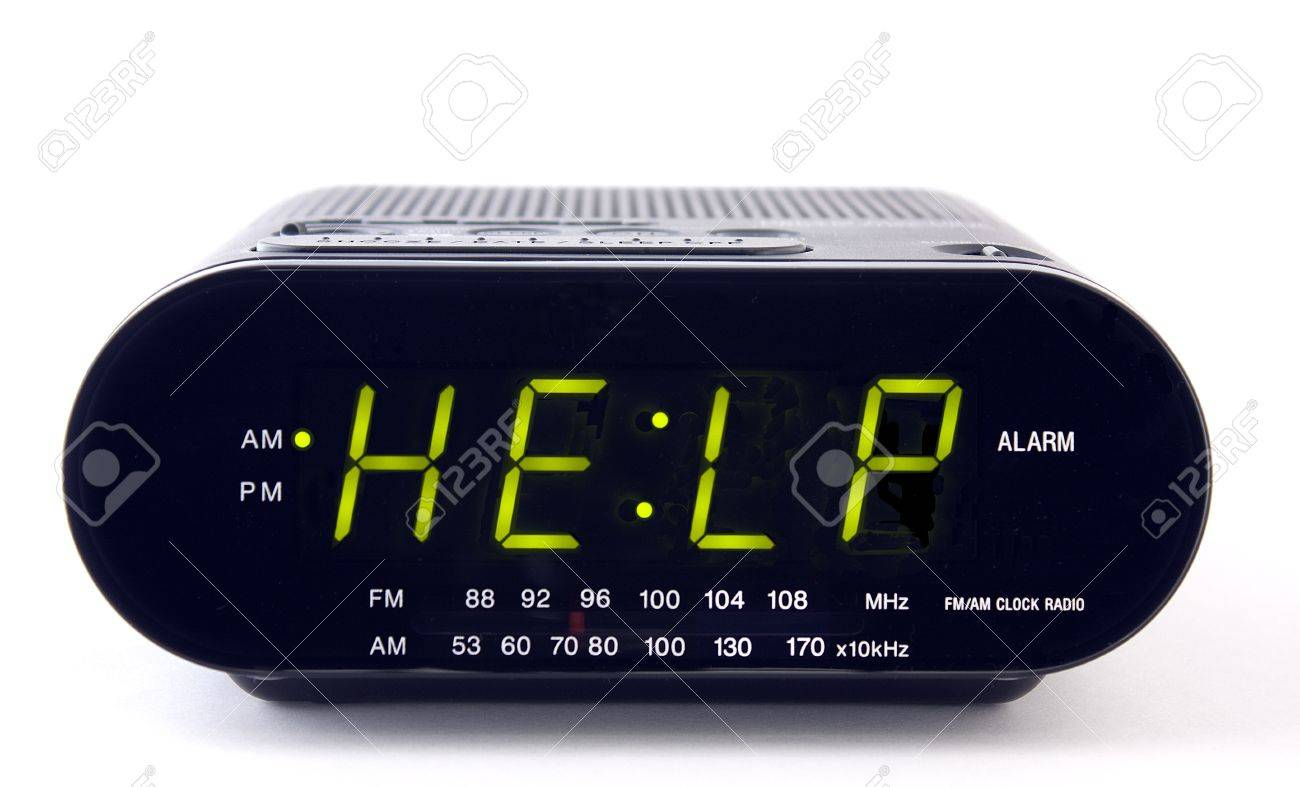 Digital alarm clock with the word HELP Stock Photo - 9665666