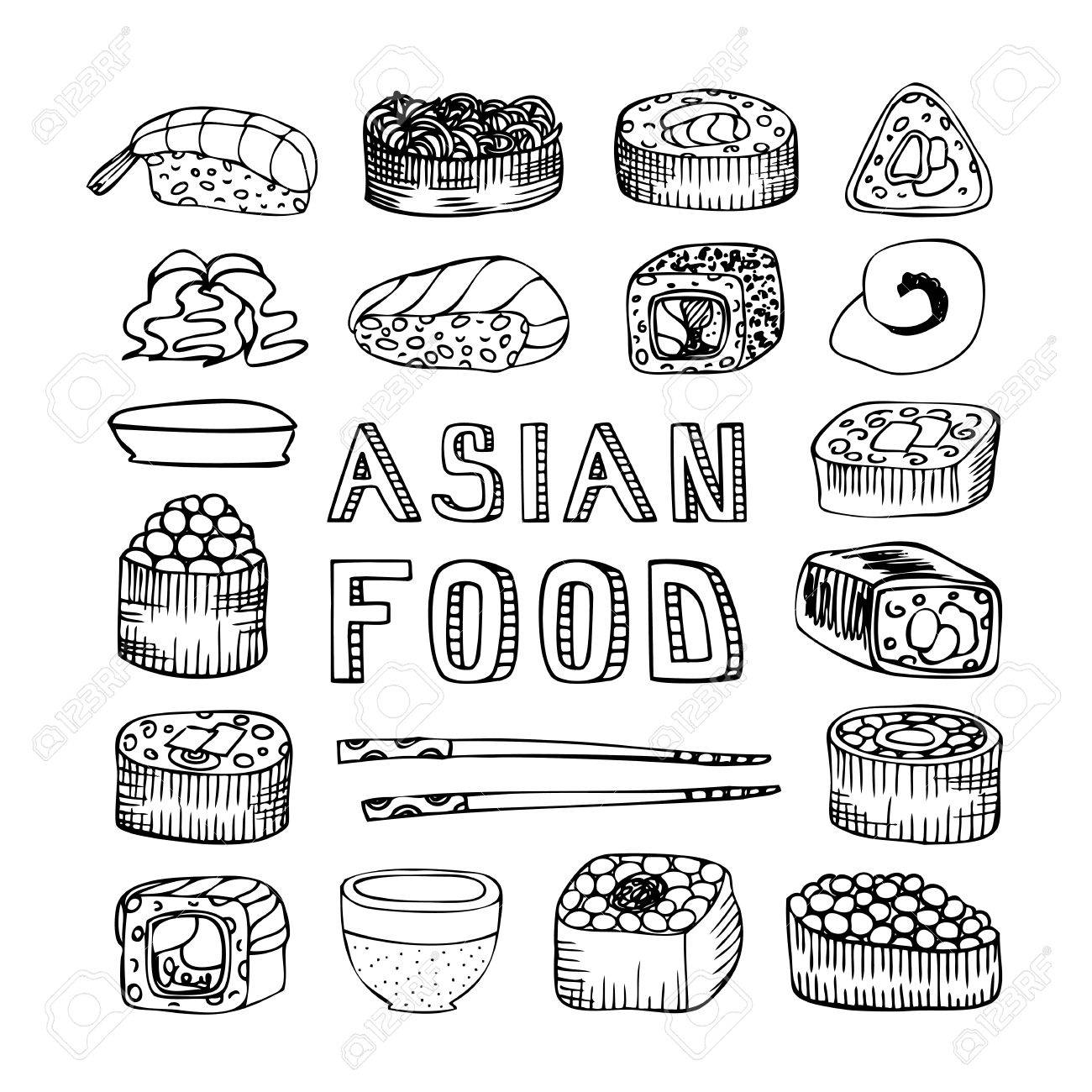 Asian Food. Asian Kitchen. Asian Food Menu For Restaurant, Cafe ...