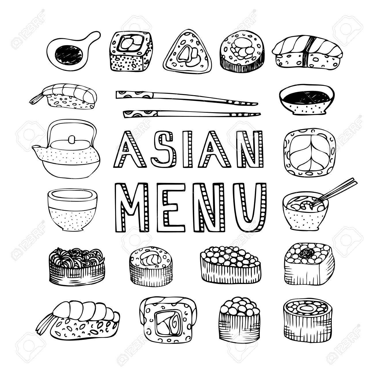Asian Menu. Asian Kitchen. Asian Food Menu For Restaurant, Cafe ...