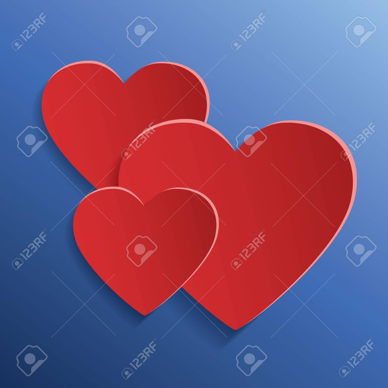 Papier Herz Element Für Den Entwurf Grußkarten Valentines