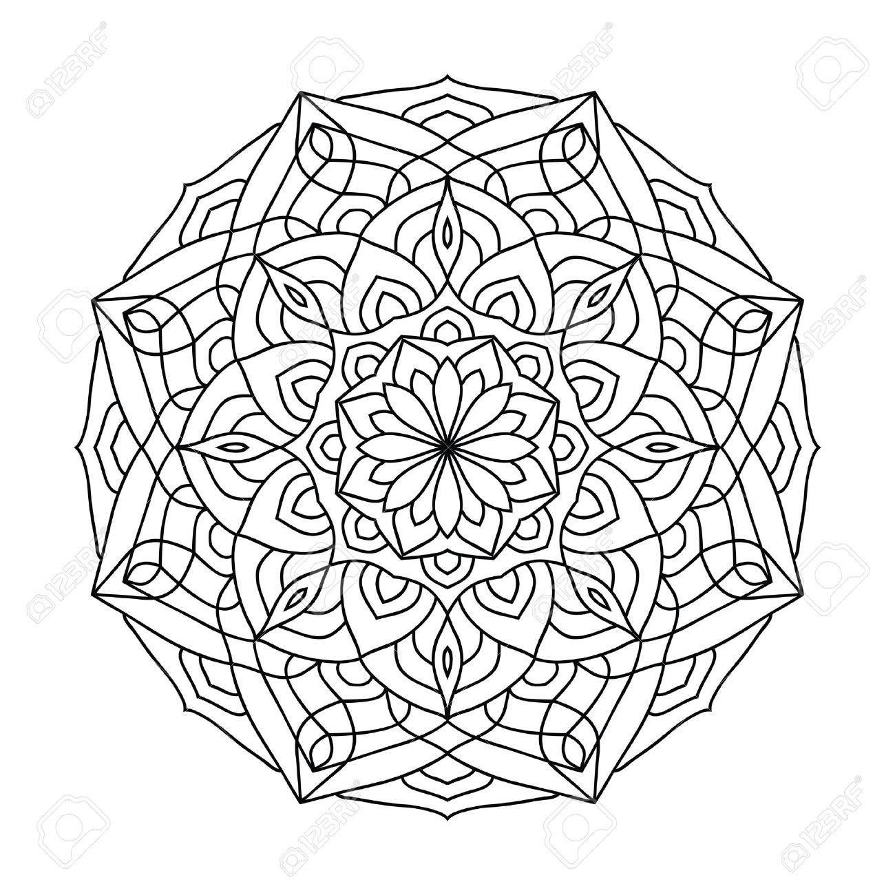 Libro Para Colorear Mandala Para Adultos Amuleto Decorativa étnica