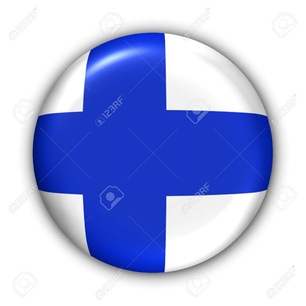 World Flag Button Series - Europe - Finland(With Clipping Path) - 374015
