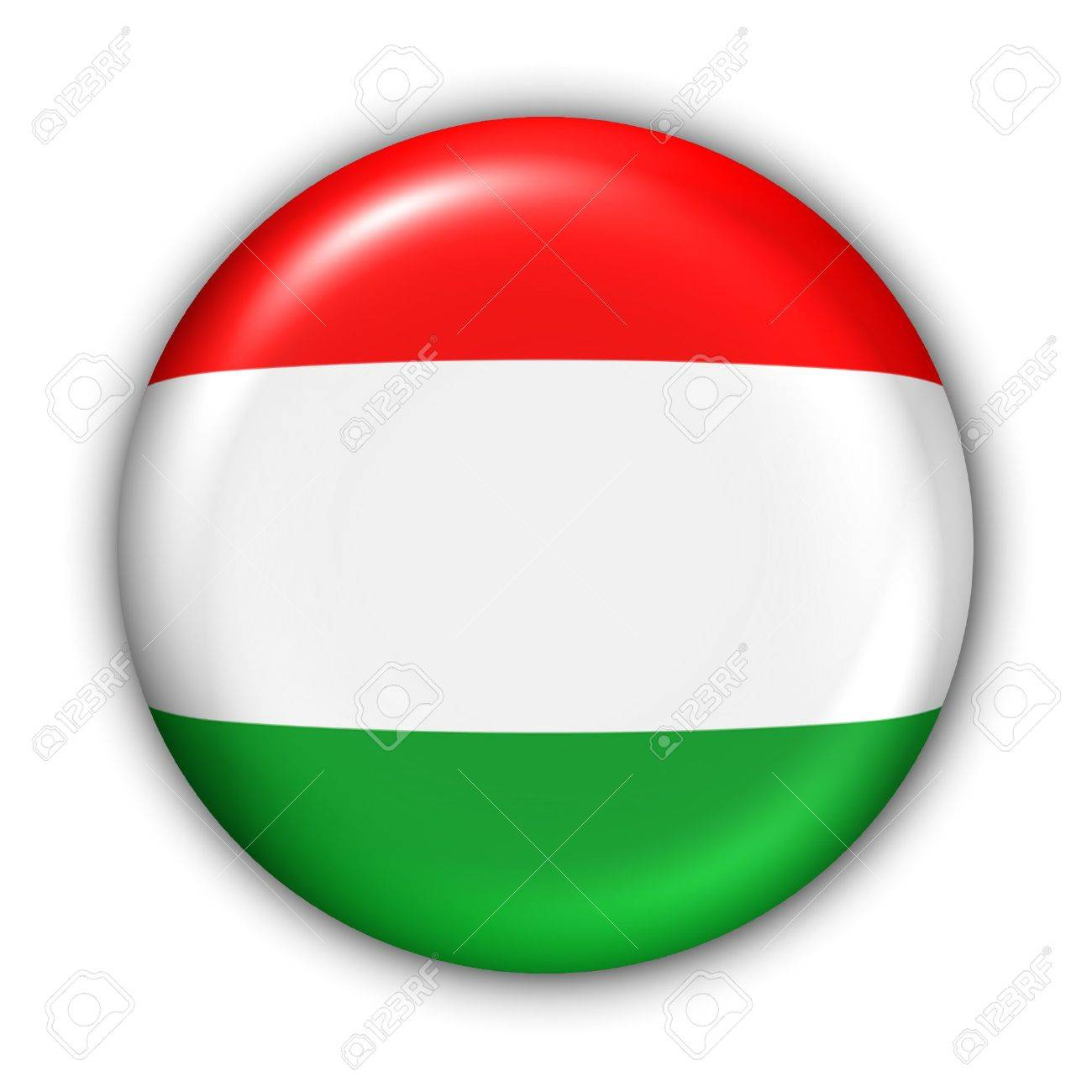 World Flag Button Series - Europe - Hungary(With Clipping Path) - 373994