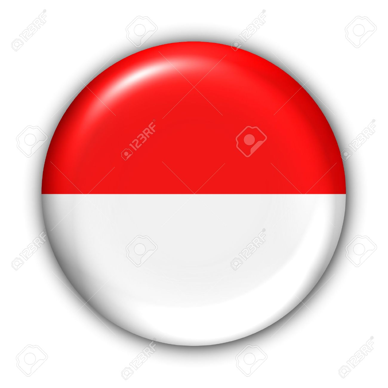 World Flag Button Series - Asia - Indonesia (With Clipping Path) - 373990