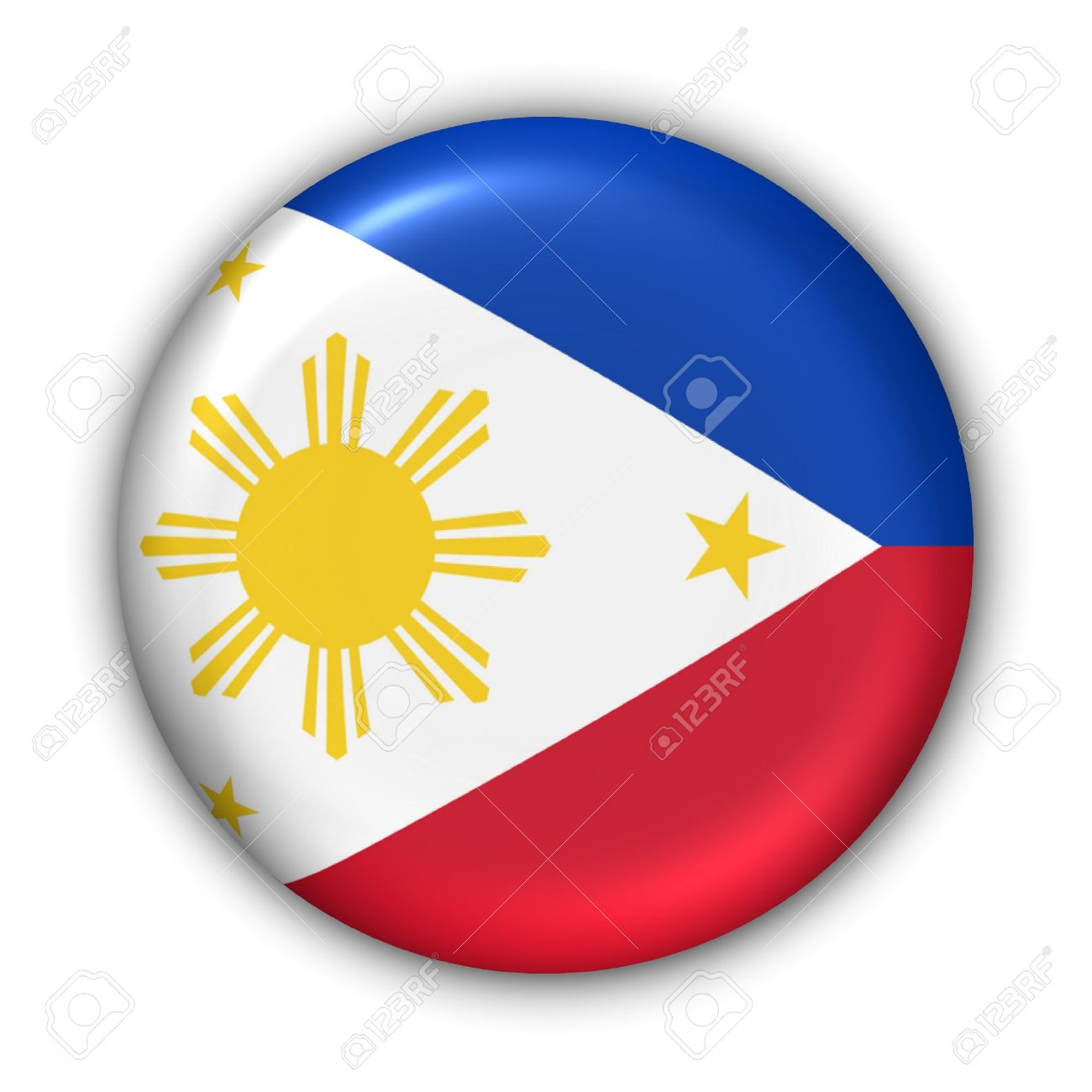 World Flag Button Series - Asia - Philippines (With Clipping Path) - 373980