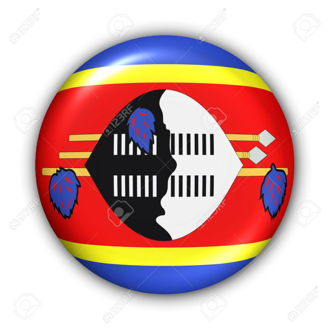 World Flag Button Series - Africa - Swaziland (With Clipping Path) - 373941