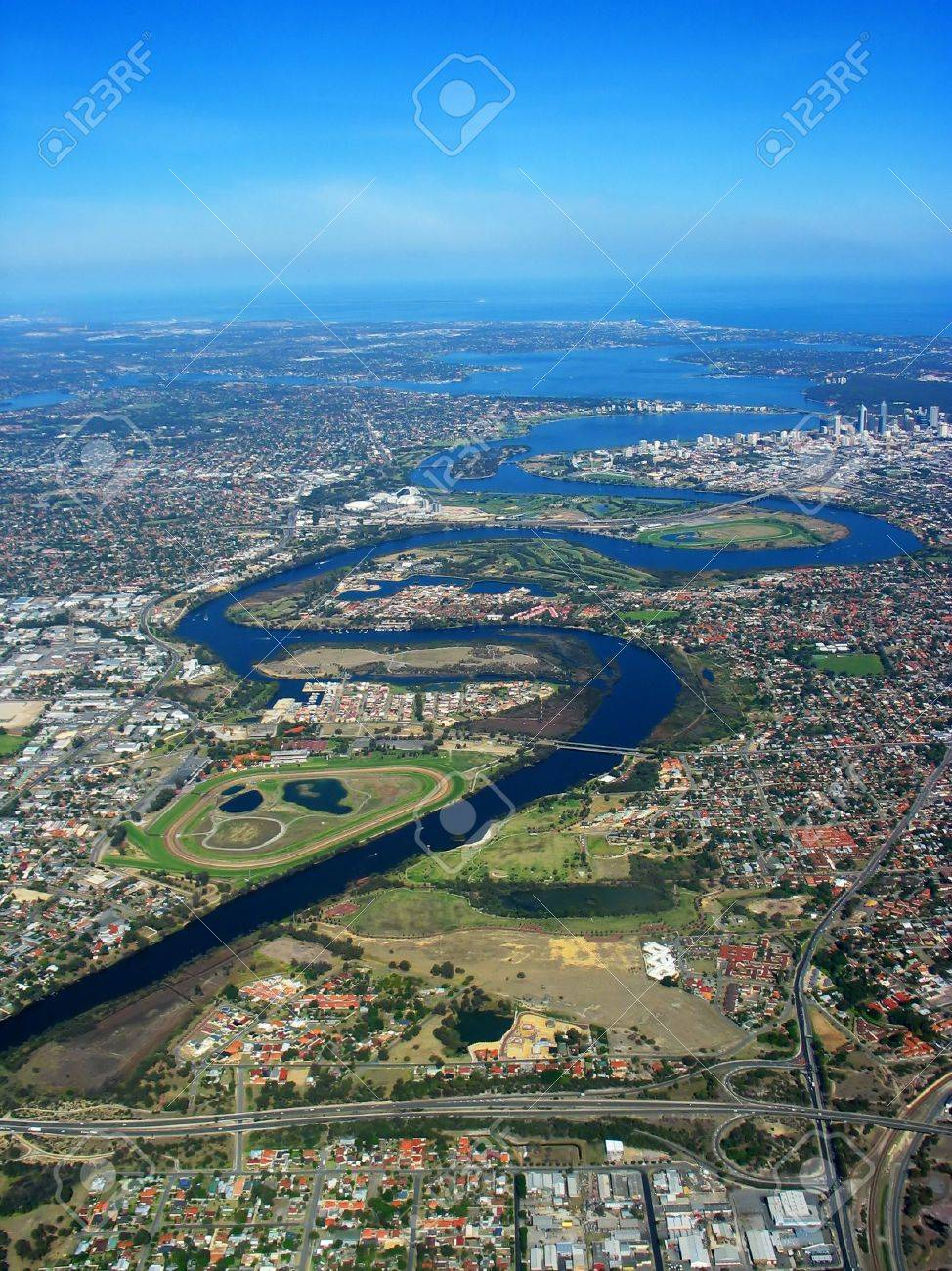 An aerial view of Swan River - 373860