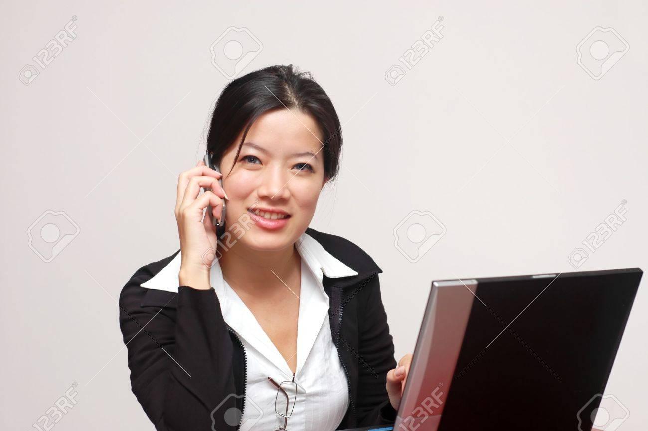 A friendly woman worker - 384118