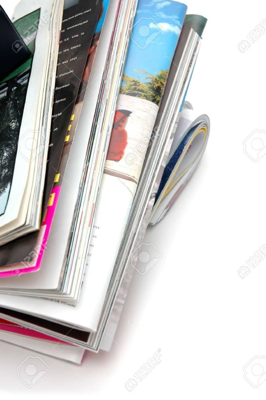 Closeup of magazine stack together (Shallow DOF) - 426525