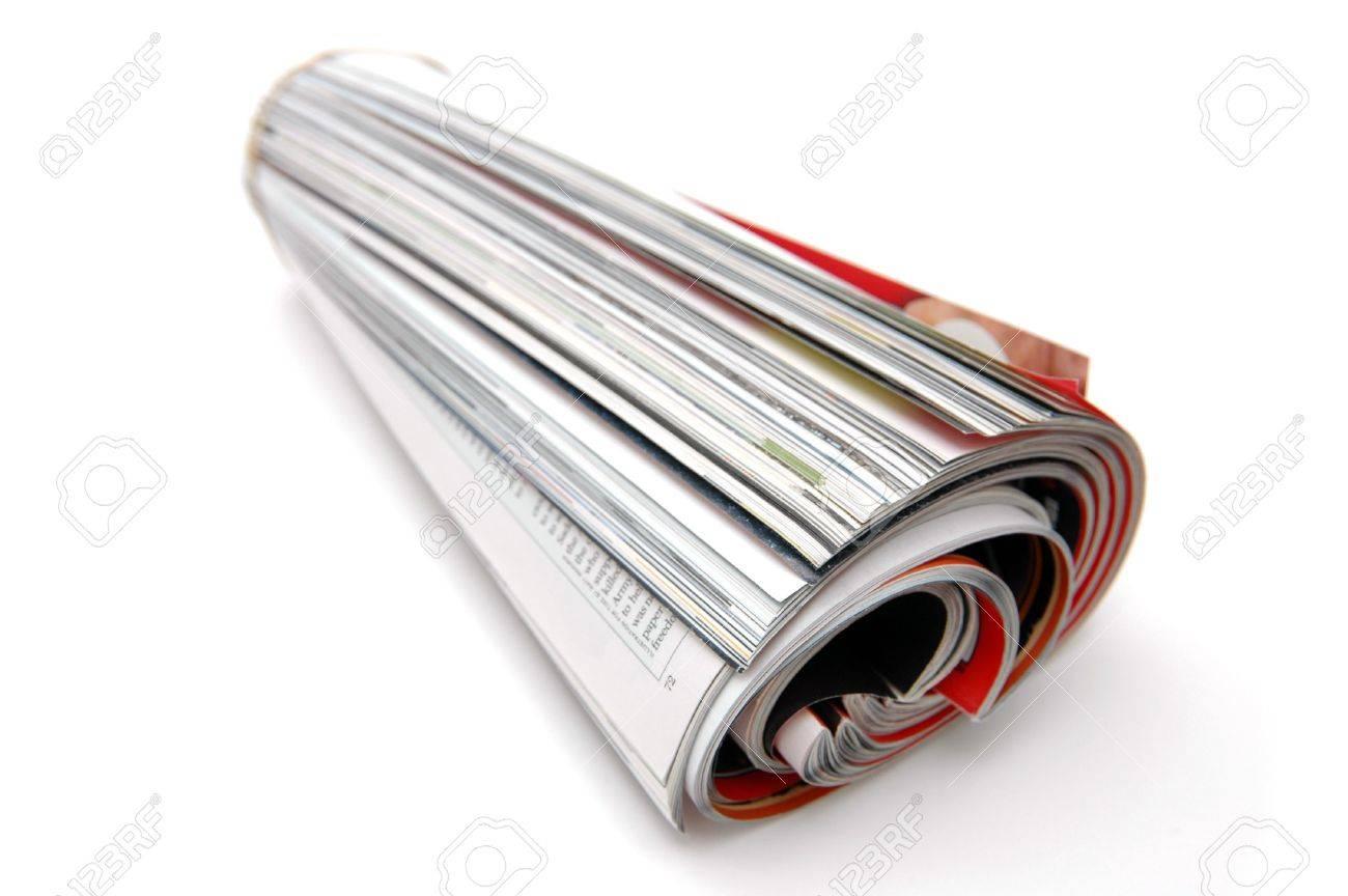 Closeup of magazine roll together (Shallow DOF) - 426529