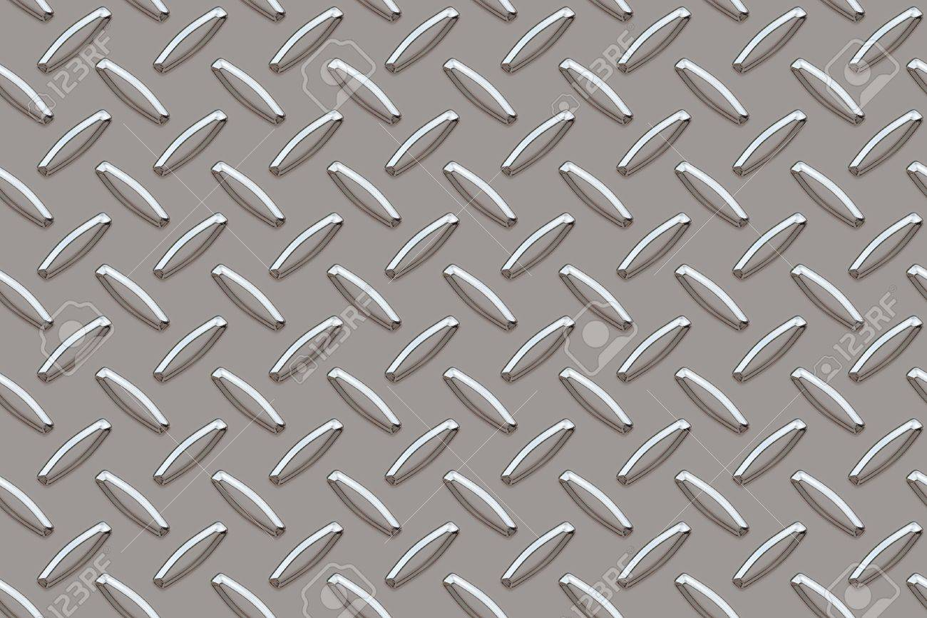 Seamless background for silver diamond Plate - 454973