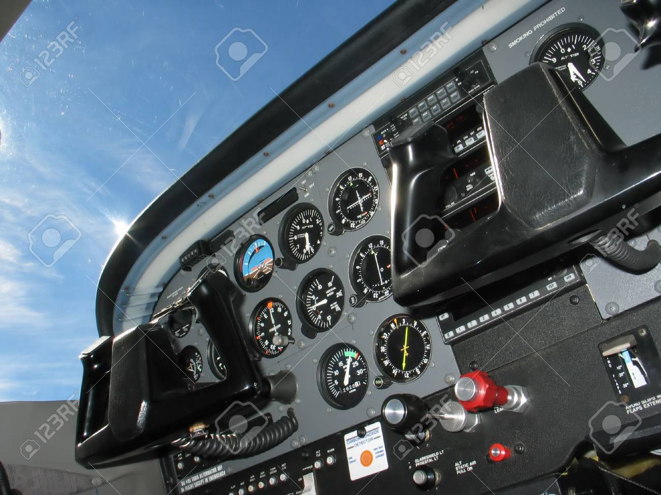 Internal of Cockpit - Aircraft Registration and Visible logo removed - 454985
