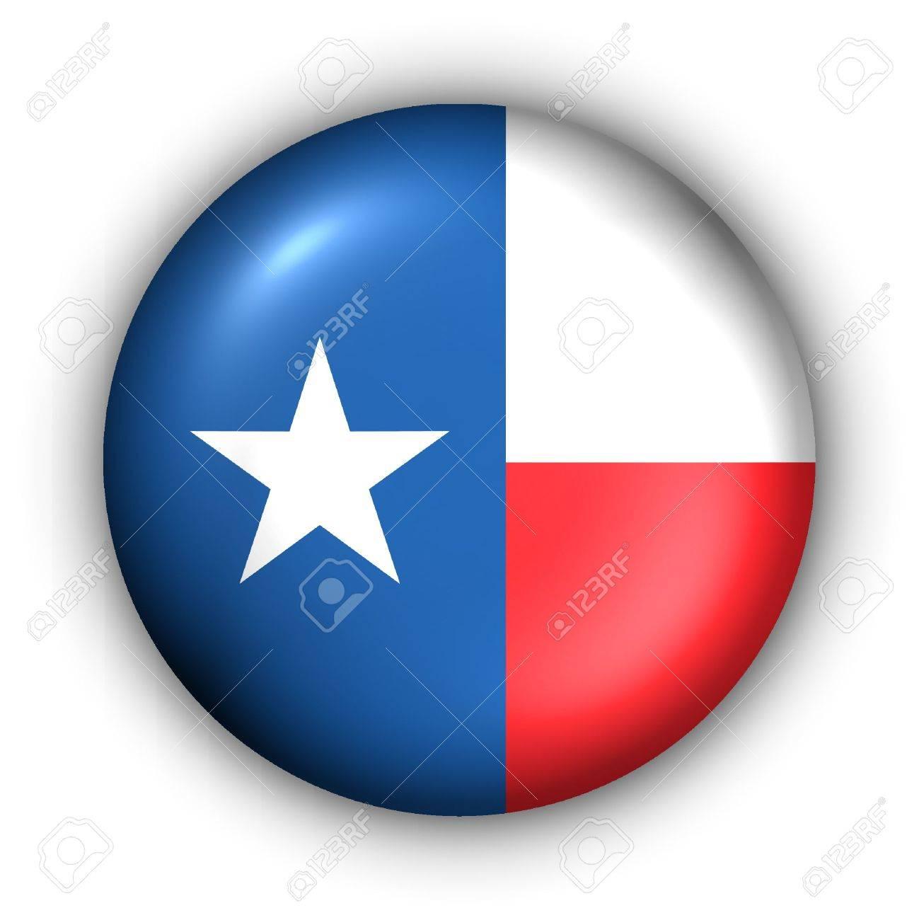 USA States Flag Button Series - Texas - 2957419