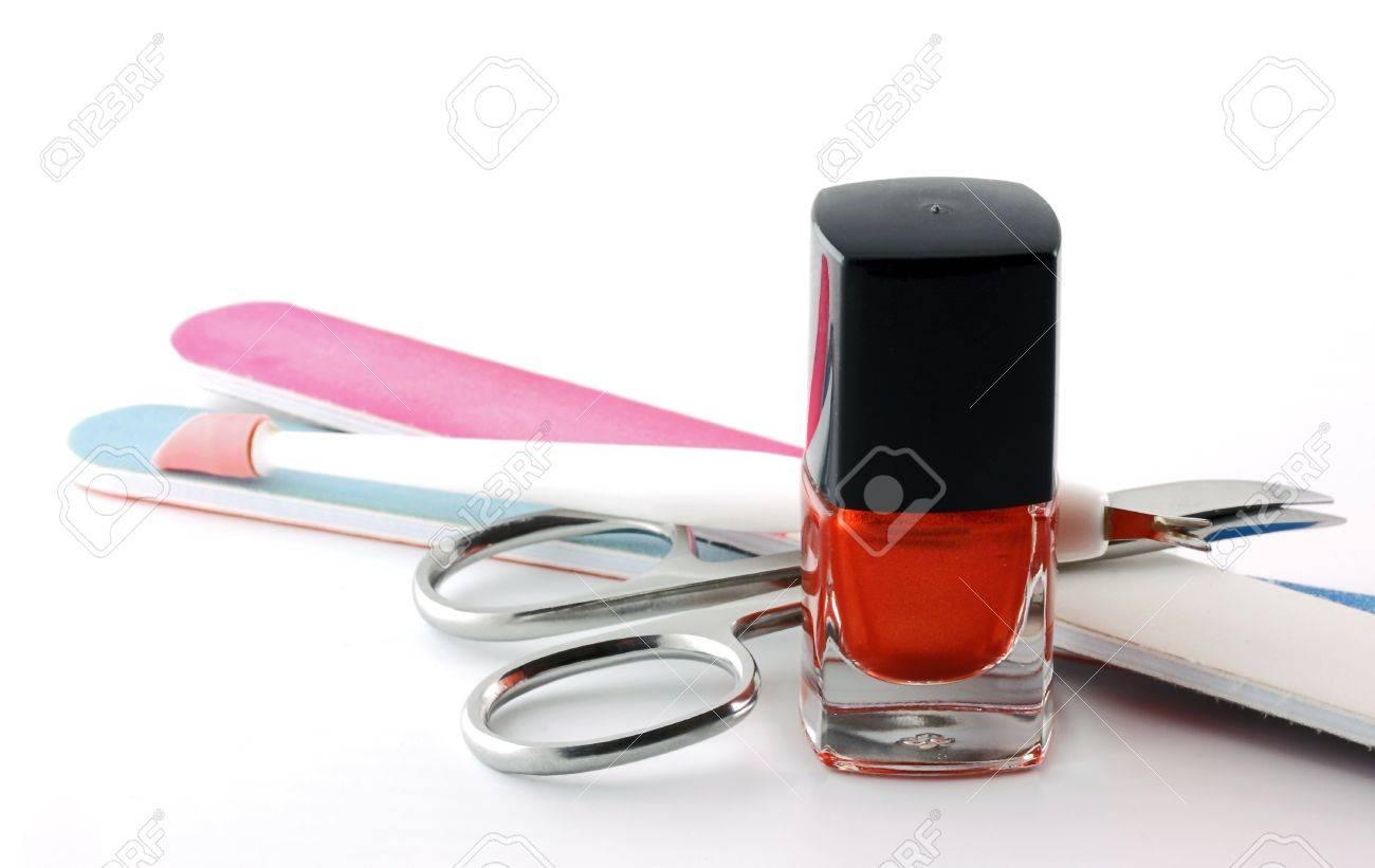 Manicure Set: Nail Polish, Nail File and Nail Scissors - 9215397