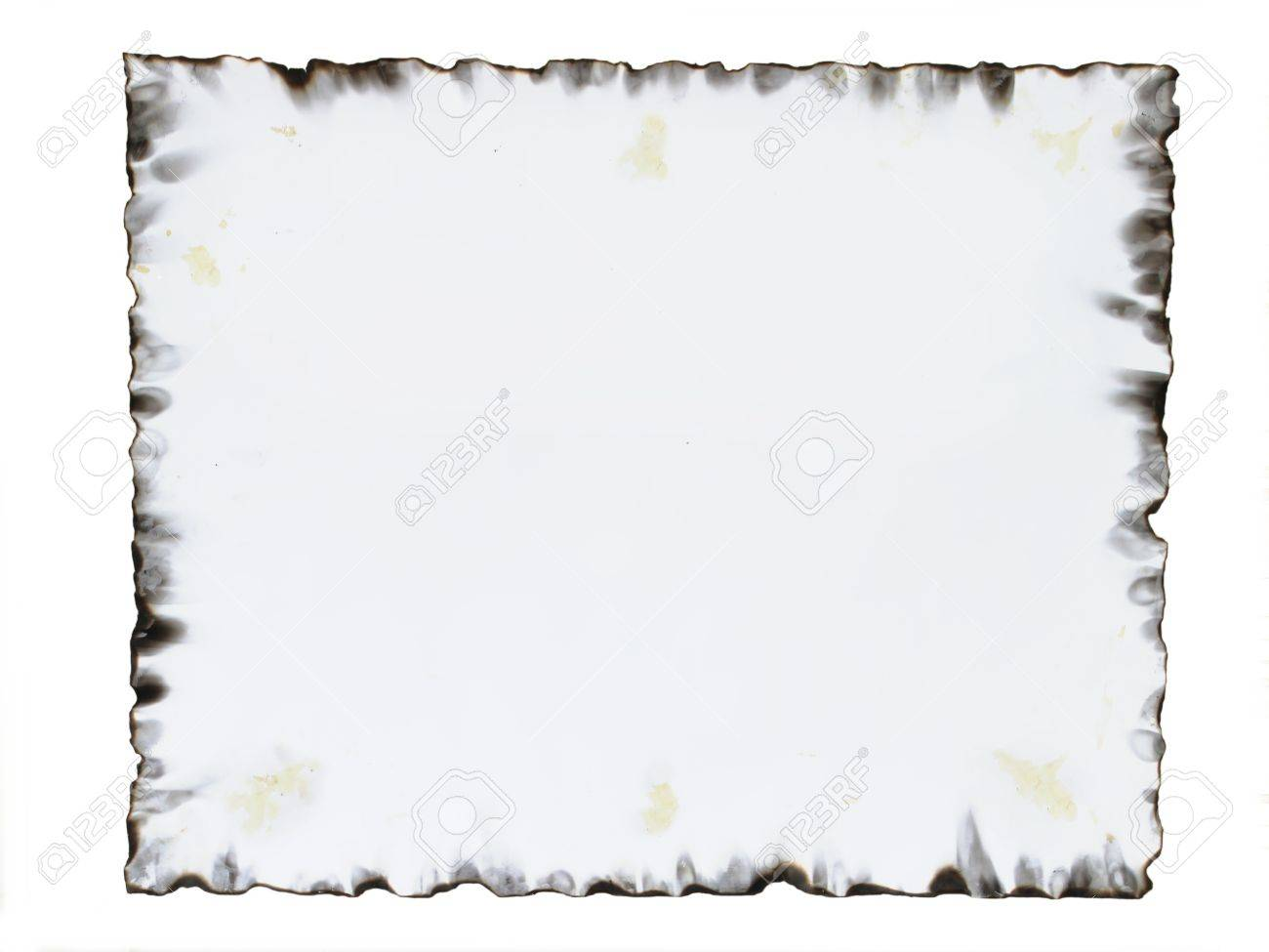 burnt paper frame stock photo 20440023