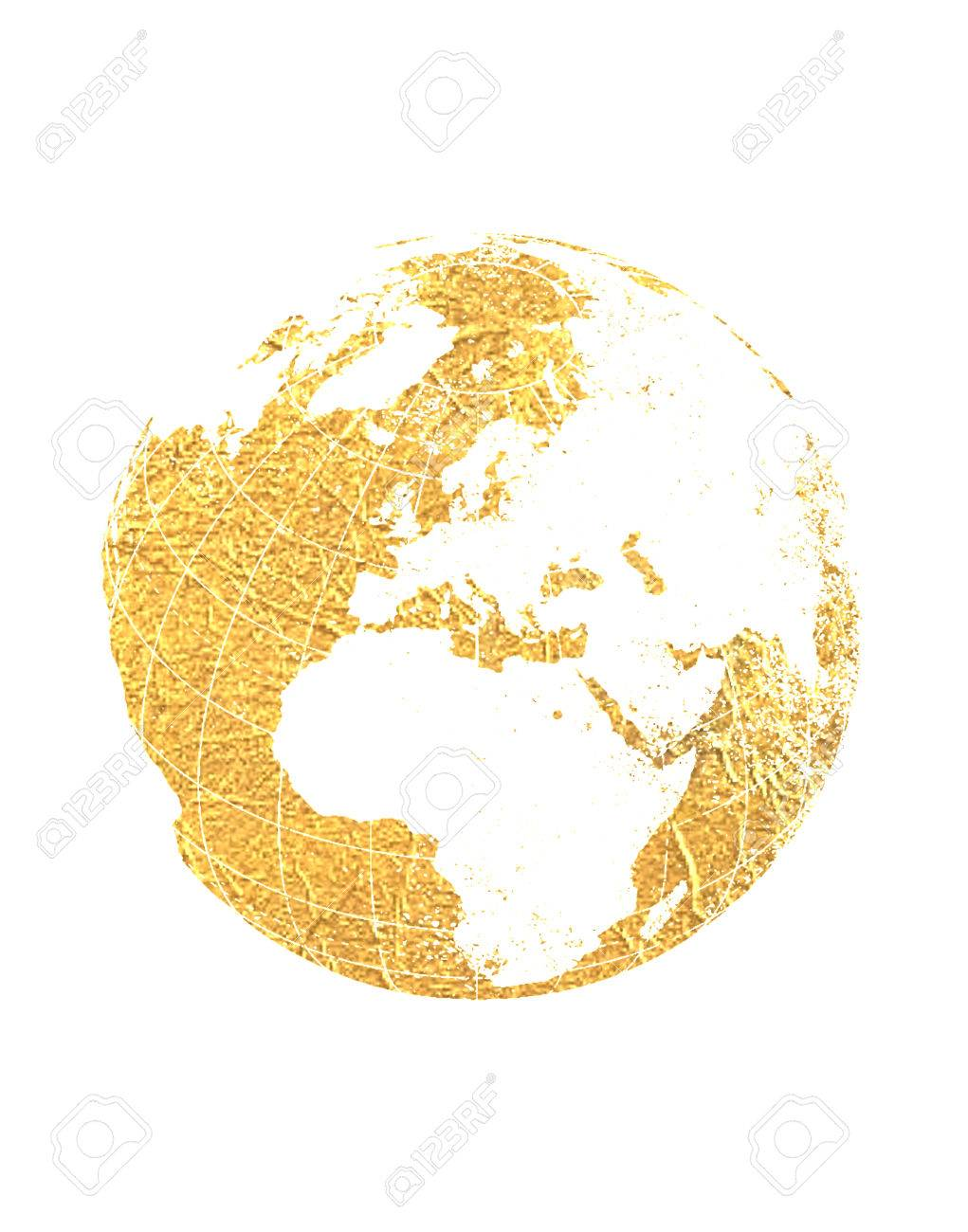 Gold foil world map globe stock photo picture and royalty free gold foil world map globe stock photo 32769512 gumiabroncs Gallery