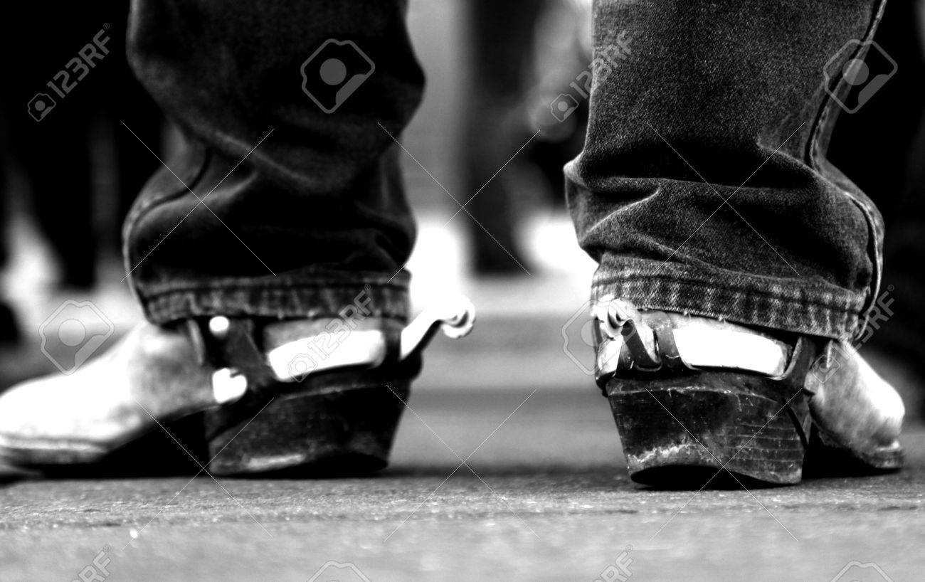 74a466e6b76 Vintage Cowboy Boots with Silver Spurs