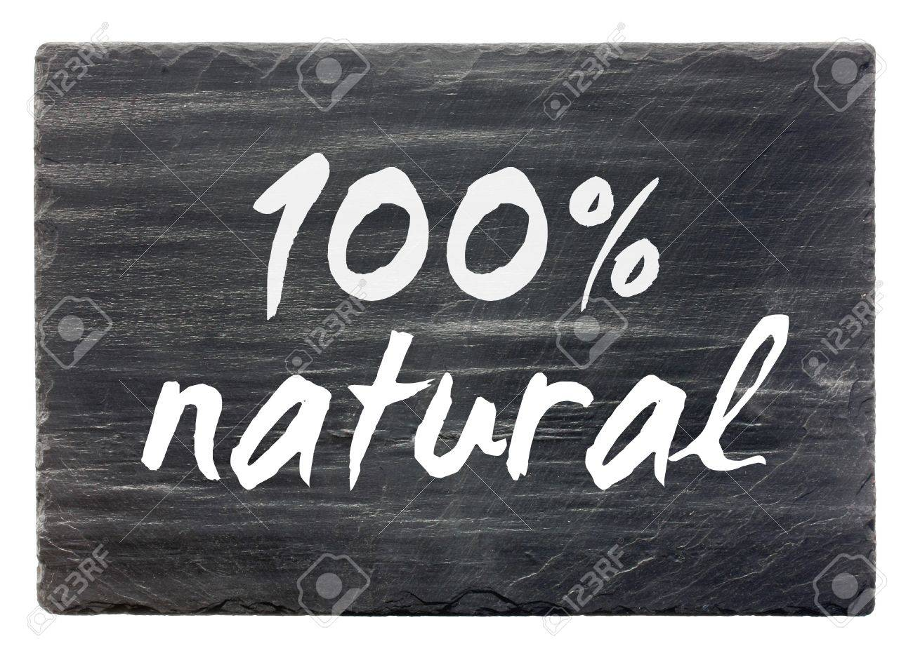 100percent natural - slate stone panel  isolated Stock Photo - 12375522