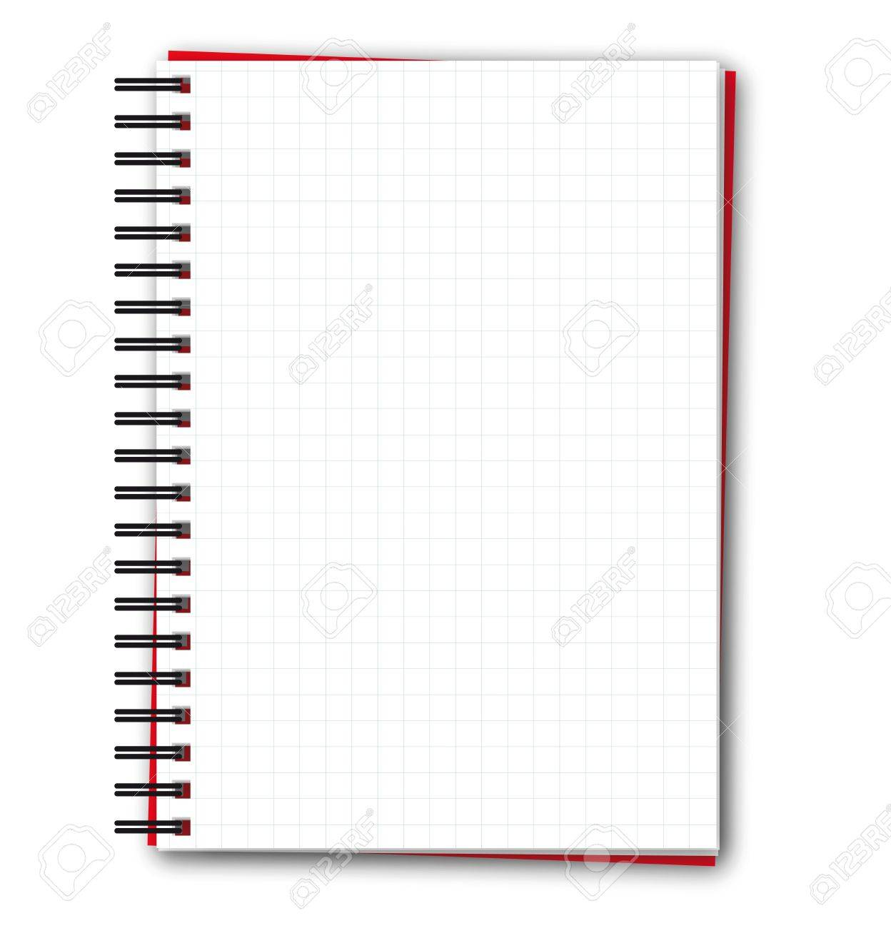 squared blank spiral notebook royalty free cliparts, vectors, and