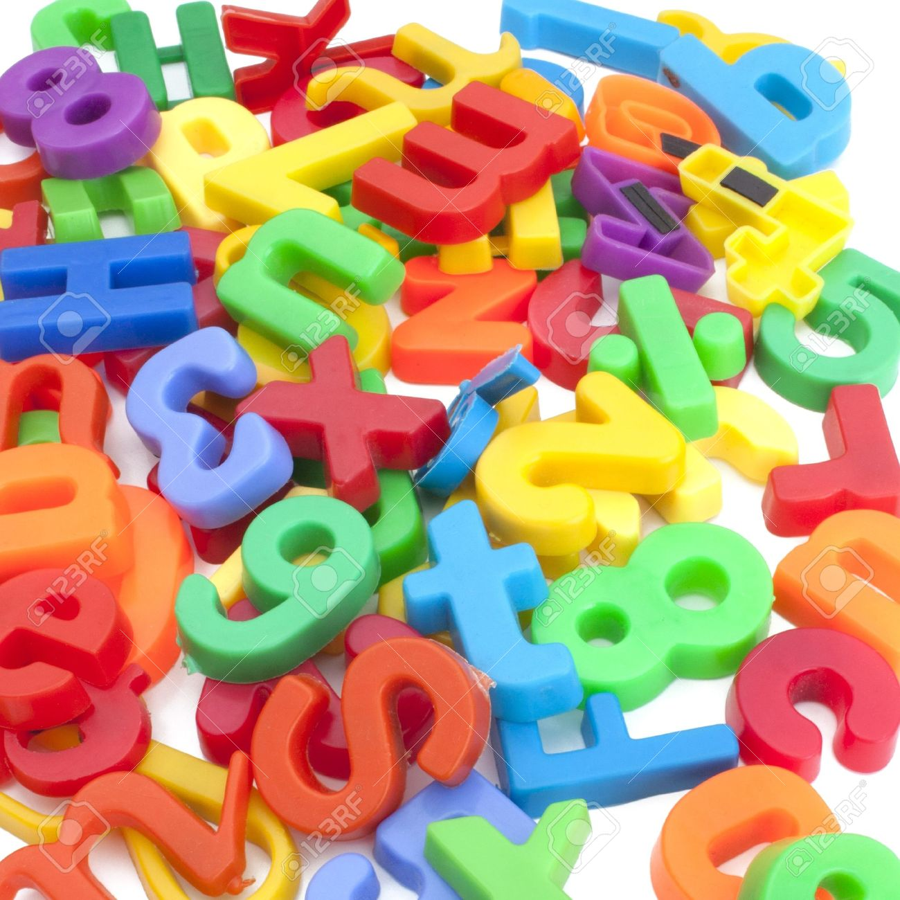 magnetic letters and numbers stock photo 12667358