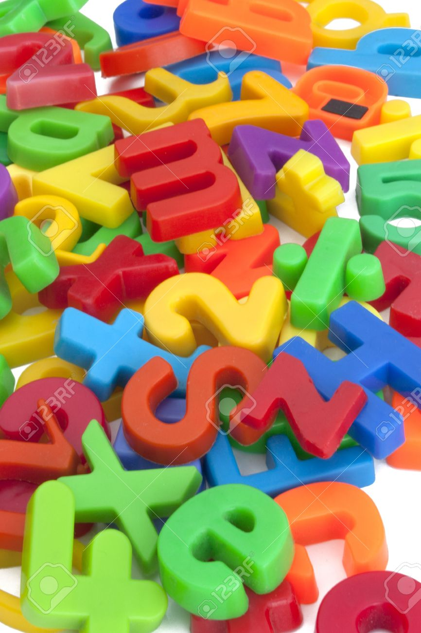 magnetic letters and numbers stock photo 12667366