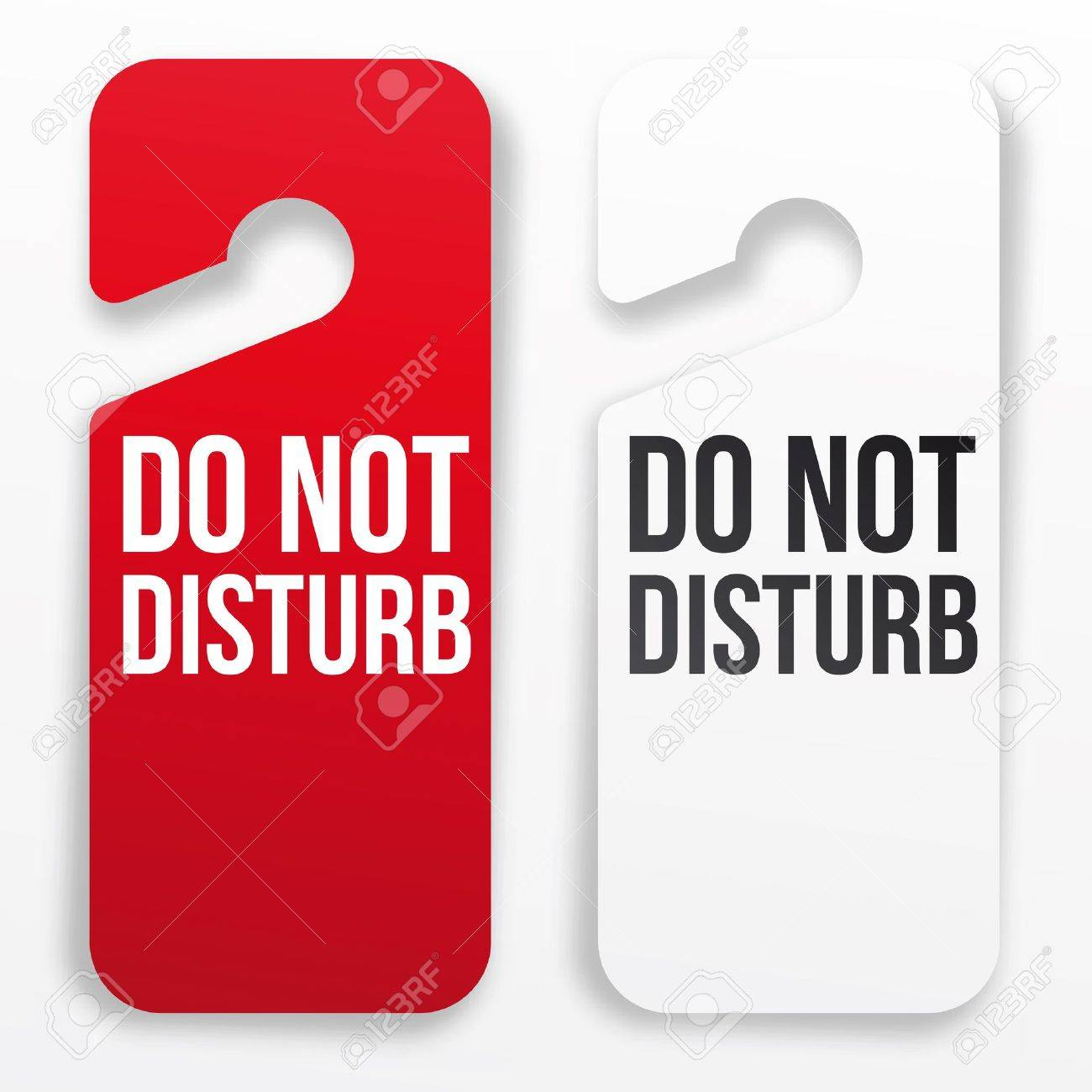 Hotel Door Hangers Template Hotel Door Hanger do Not
