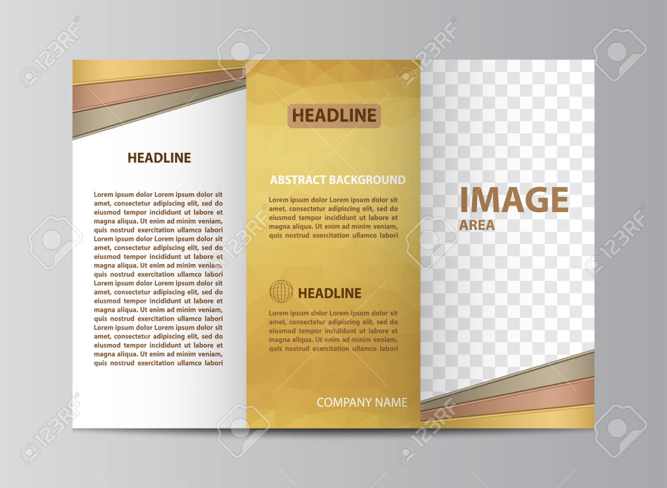 tri fold brochure template layout in size a4 royalty free cliparts