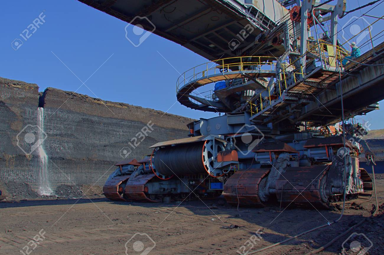Chassis of coal loader machine in the mine Stock Photo - 12546250