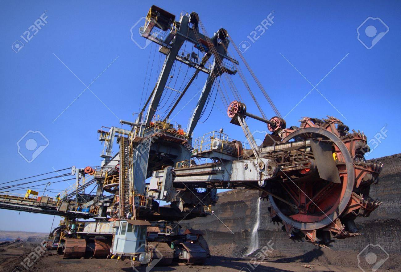 Excavator in lignite strip mining Stock Photo - 12546246