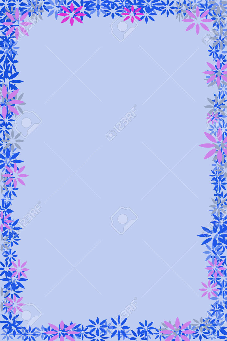 a light blue background with a blue and purple border stock photo