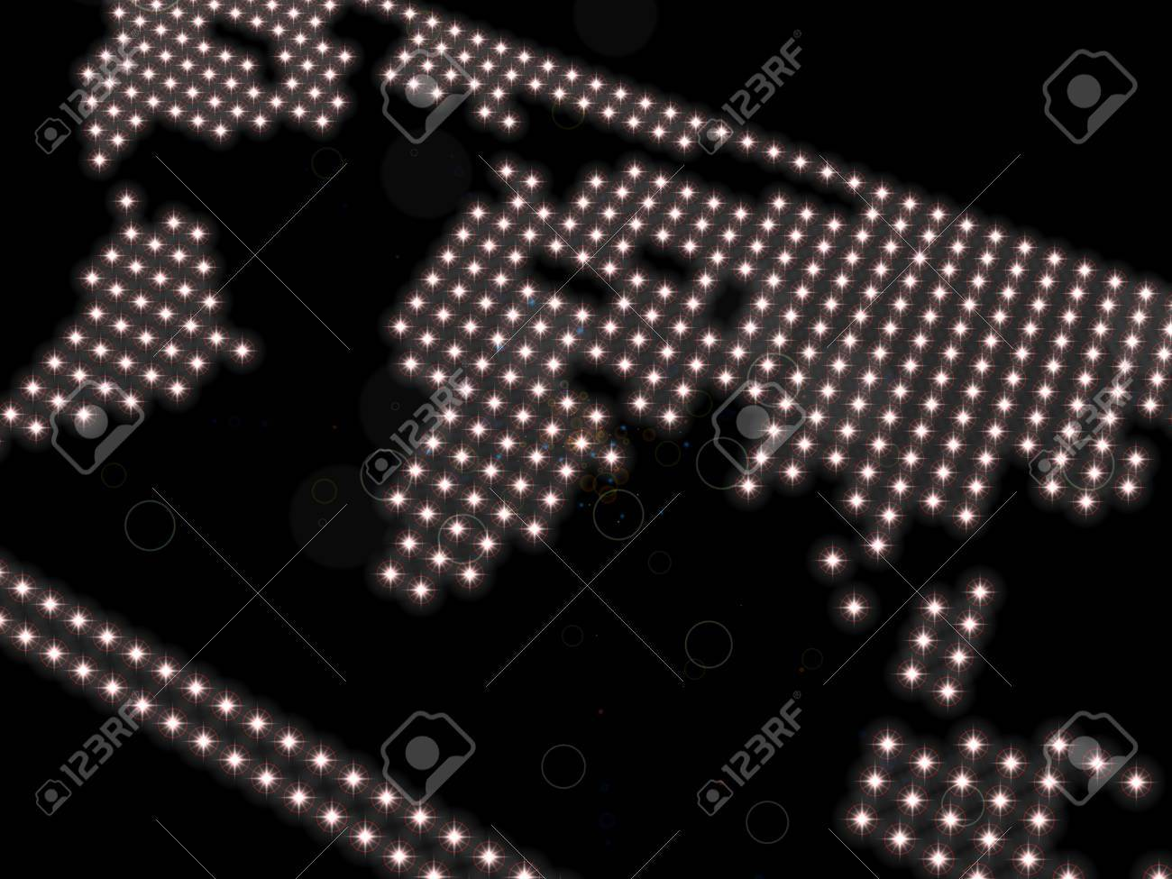 Rough representation of the world map composed of spotlights on a rough representation of the world map composed of spotlights on a black background gumiabroncs Images