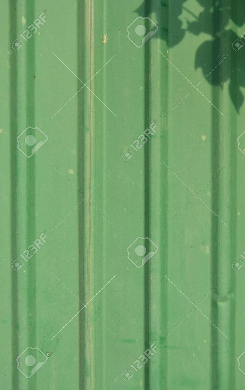 Green zinc wall Stock Photo - 15763202