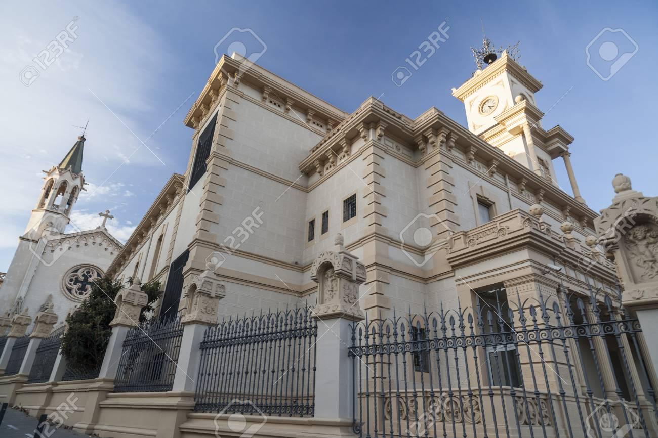 Sant Boi De Llobregat Spain January 29 2015 Ancient Building Park
