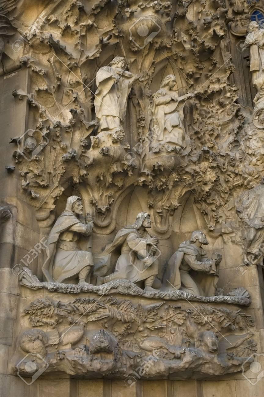sagrada familia in barcelona spain designed by famous architect