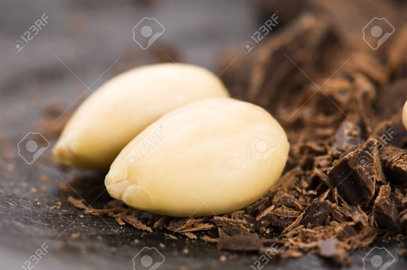 Chopped chocolate with sweet almond. delicious Stock Photo - 6523702