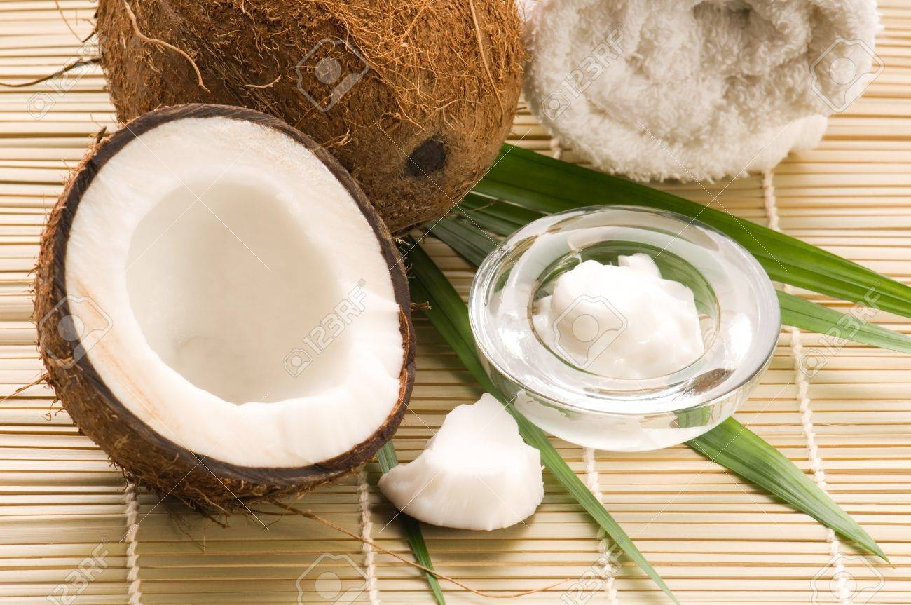 Coconut and coconut oil Stock Photo - 8178018