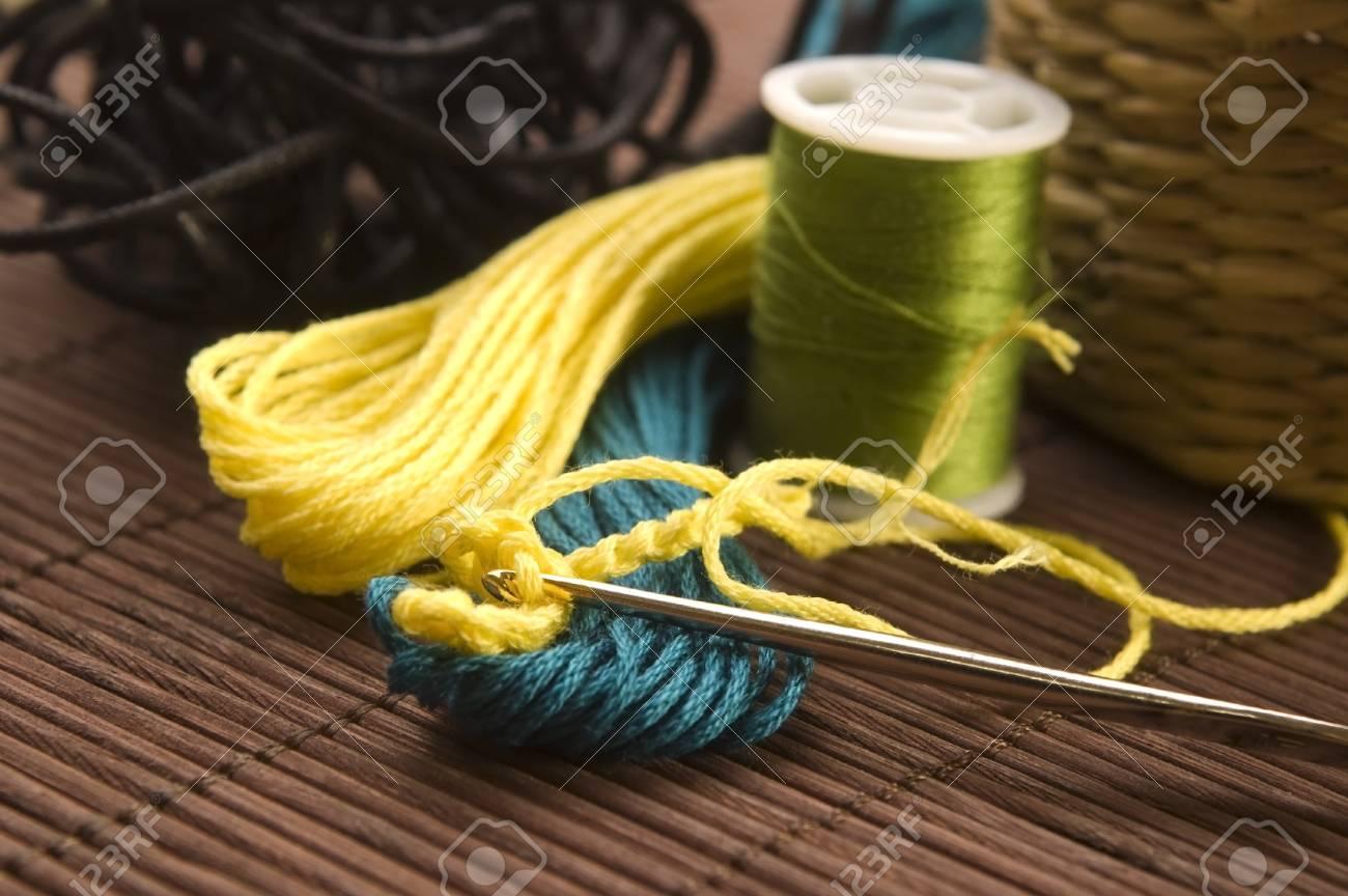 Crochet hook and wool Stock Photo - 14371033
