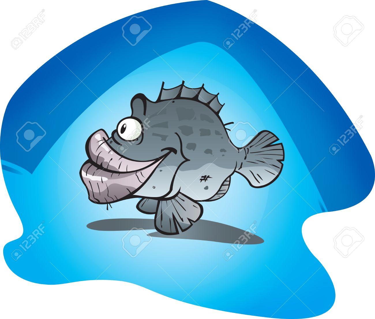 A large cartoon Cod fish. Stock Vector - 9284226