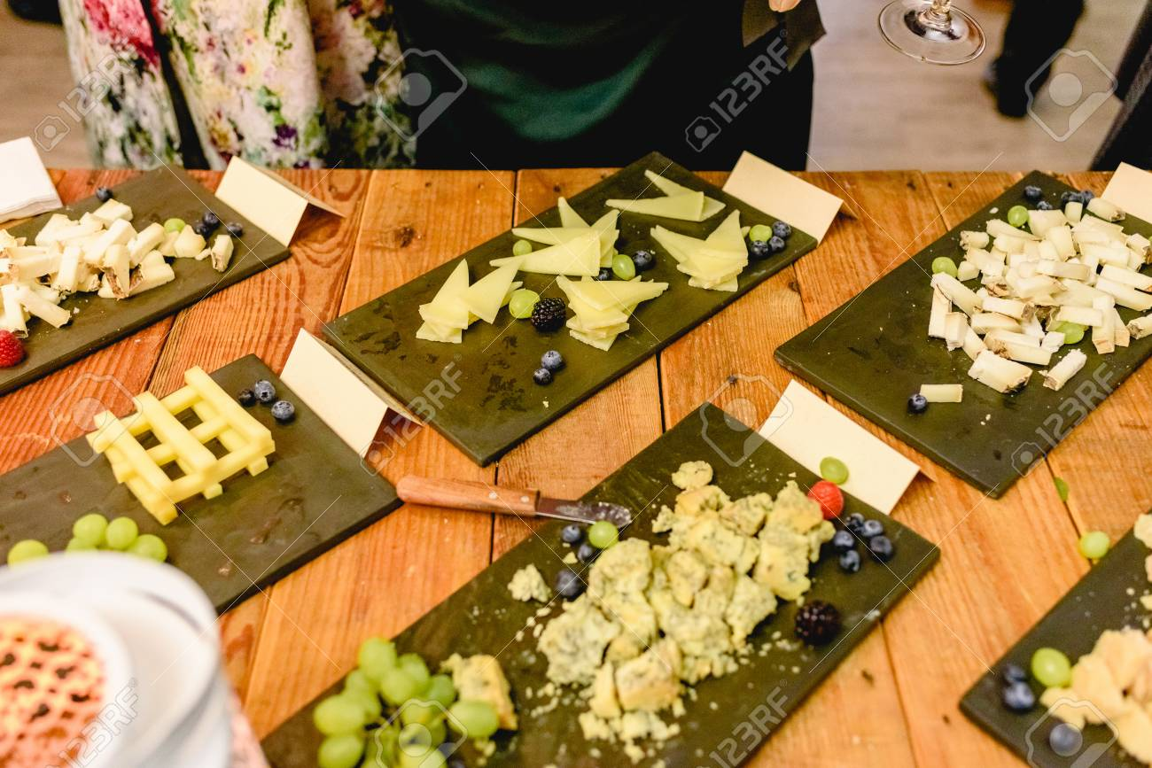 Cheese Buffet Bar At A Wedding Stock Photo Picture And Royalty