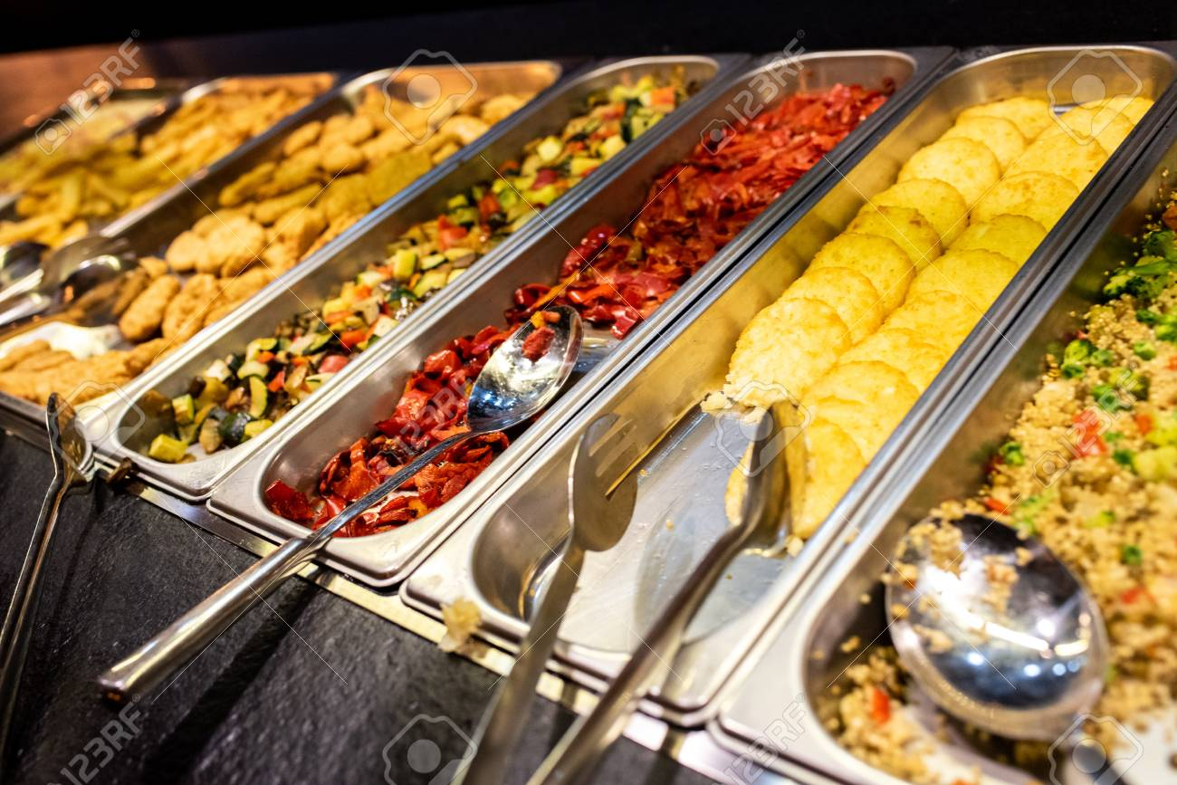 Prime Trays With Food For Self Service Buffet In A Restaurant Download Free Architecture Designs Grimeyleaguecom