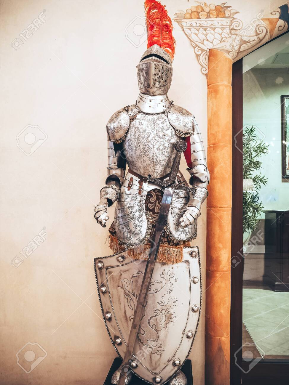 Russia Sochi 14 03 2020 The Figure Of A Medieval Knight In Stock Photo Picture And Royalty Free Image Image 150724656