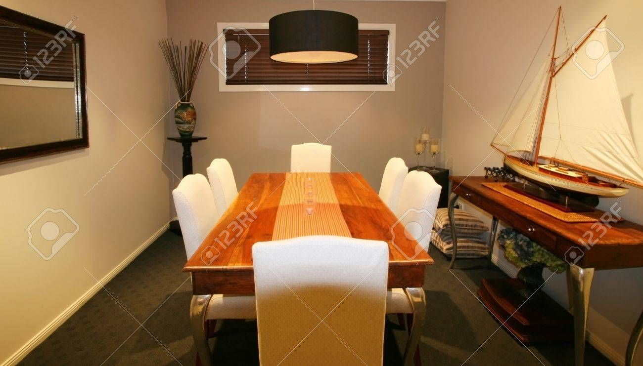 Contemporary formal dining room in private home Stock Photo - 10926264