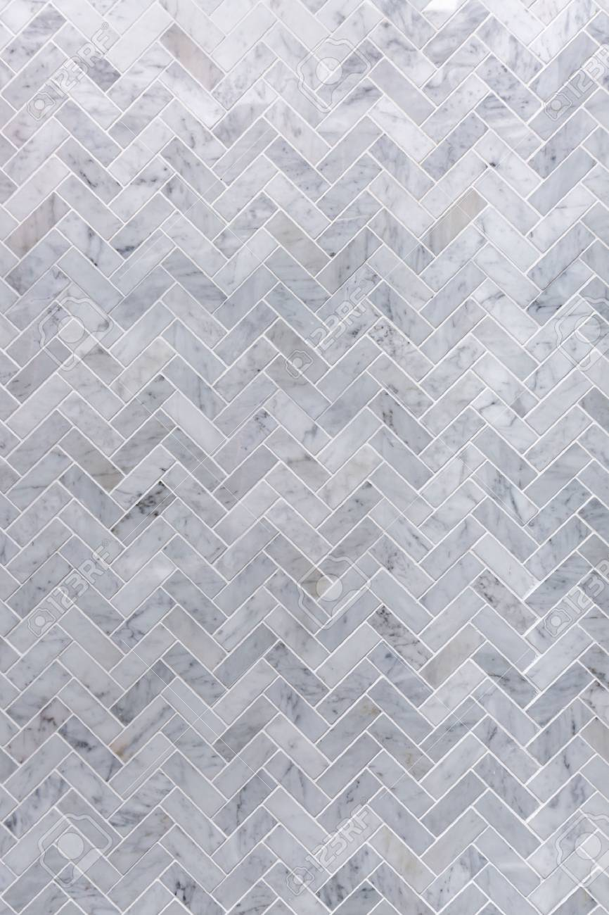 Background Of Grey And White Marble Tile In Herringbone Pattern Stock Photo Picture And Royalty Free Image Image 76912105