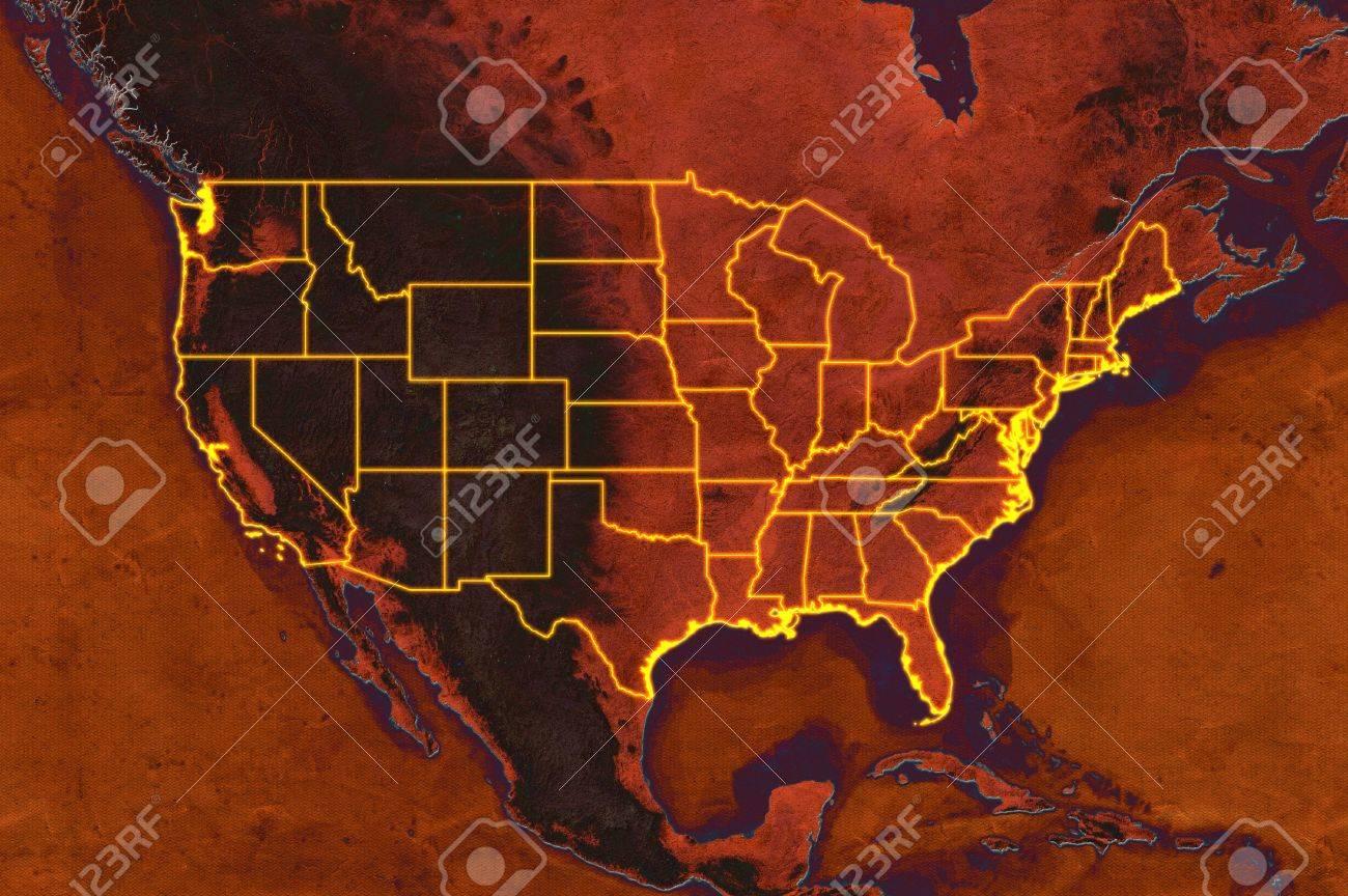US Canada Maps Online YellowMaps World Atlas United States - Us states elevation map