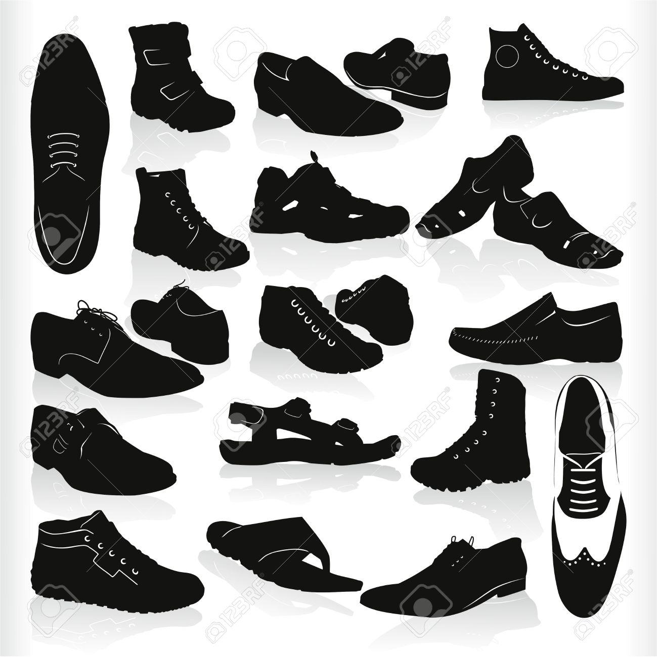 靴ひも メンズ モダンな黒い靴ベクトル イラスト・ベクター素材