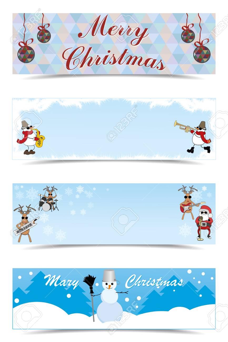Vector Set Of Christmas Greetings Royalty Free Cliparts Vectors